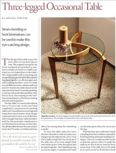 #2679 Occasional Table Plans - Furniture Plans