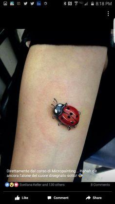Ankle Tattoos, Arm Tattoo, Body Art Tattoos, Sleeve Tattoos, Cool Tattoos, Lady Bug Tattoo, Tattoo Designs For Women, Tattoos For Women, Ladybird Tattoo