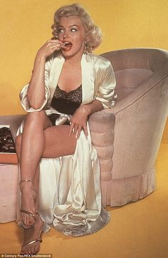 The quest for the perfect figure was so widespread because the 20th century marked the beginnings of mass media and celebrity culture. Monroe is seen on a poster here in lingerie and a silk bathrobe, promoting the 1953 movie How to Marry a Millionaire