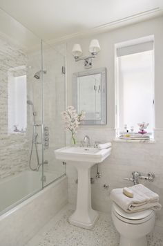 Sanitized White, all tile and notice the industrial style flusher. Perfect bathroom!