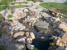 This newly constructed waterfall has split streams to make the feature wider and more interesting. Many people dream of having a backyard waterfall, so I decided to make the focus of this tips article about basic waterfall designing.  As an avid user