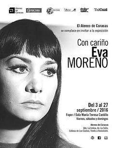 CON CARIÑO, EVA MORENO es la exposición que se presentará del 3 al 27 de septiembre, en el Foyer de la Sala María Teresa Castillo del Ateneo de Caracas