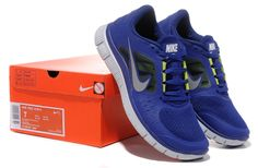 separation shoes 8b469 1de9b Deep Royal Blue Reflective Silver Sail Volt Nike Free Run 3 Men s Running  Shoes  Blue