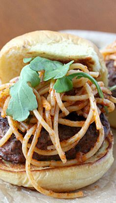 Spaghetti Burger, this has our names all over it @Natalie Graham