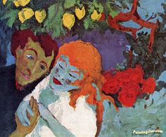 In The Lemon Grove Artwork by Emil Nolde Hand-painted and Art Prints on canvas for sale,you can custom the size and frame