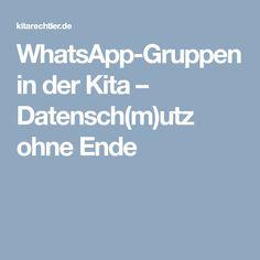 WhatsApp-Gruppen in der Kita – Datensch(m)utz ohne Ende