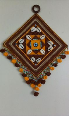 Kecce Evi: KEÇE NAZARLIK Handmade Embroidery Designs, Hand Embroidery Patterns, Embroidery Art, Diy Home Crafts, Diy Arts And Crafts, Felt Crafts, Creative Wall Decor, Creative Crafts, Diy Diwali Decorations