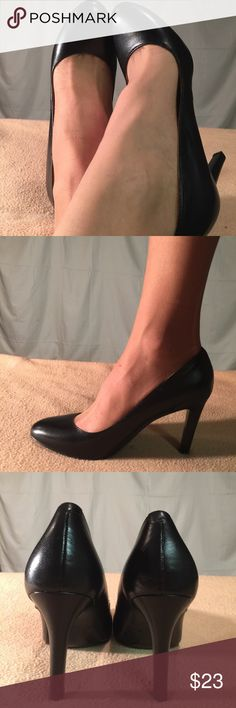 New Nine West Black Leather Heels/Pumps These shoes are Brand New/Never Worn and are in PERFECT CONDITION. The heel height of this shoe is 4 inches tall. Nine West Shoes Heels