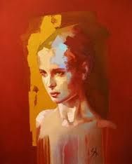 Solly Smook, oil, acrylic on canvas, 2015 {figurative art… Abstract Portrait, Portrait Art, Acrylic Portrait Painting, Woman Portrait, Portrait Paintings, Painting Abstract, Acrylic Paintings, Abstract Landscape, Art Paintings