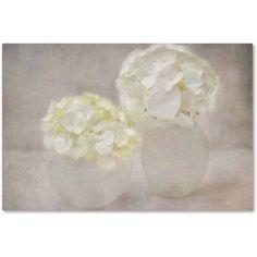 Trademark Fine Art 'White Hortensia Still Life' Canvas Art by Cora Niele, Size: 16 x 24, Multicolor