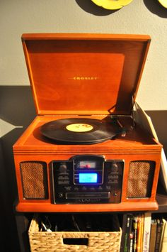 crosley record player.