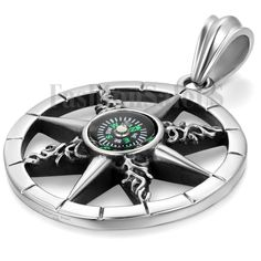 Fashion Mens Charm Stainless Steel Hollow Compass Vintage Pendant  Necklace #Unbranded #Pendant
