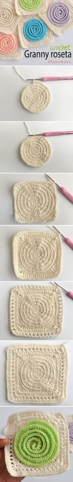 Granny roseta tejido a crochet paso a paso en video tutorial :)