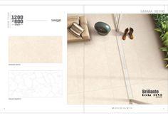 Millennium Tiles 600x1200mm (24x48) Digital Brilliante Recta PGVT Porcelain Floor Tiles Single Series.  - Sahara Beige  - Valiat Bianco