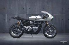 Triumph Thruxton M2B Cafe Racer design by Jakusa design #motorcycles #caferacer #motos   caferacerpasion.com