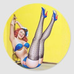 Happy Sailor Pin Up Classic Round Sticker   redhead eye makeup, redhead outfits, redhead outfits fall #redhead #redheadroyalty #redheadsrock, 4th of july party Redhead Funny, Redhead Mom, Redhead Quotes, Redhead Problems, Dress And Sneakers Outfit, Redhead Fashion, Redhead Shirts, Redhead Makeup, Redheads Freckles