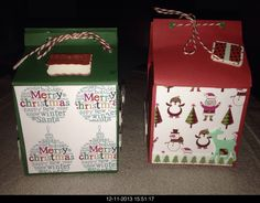 Kleine kerst kado doosjes