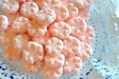 Snowflake cream cheese mints