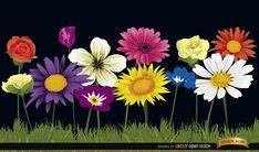 Garden Tool Kit Gifts garden tool crafts tips. - All For Garden Garden Fence Art, Garden Mural, Garden Tools, Fence Landscaping, Backyard Fences, Grass Background, Flower Mural, Flowers For You, Vector Flowers