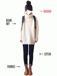 tum│BEAMS BOYのニット・セーターコーディネート-WEAR