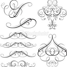 Ornate motifs Royalty Free Stock Vector Art Illustration