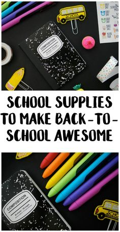 Headed back to school? Whether you're heading back to college, have kids in elementary or have teens heading back to middle or high school, these cute school supplies are sure to put a smile on your face! These cool items will let your kids share all their best ideas and be creative all year long.