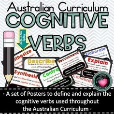 Cognitive Verb Posters based on Australian Curriculum Achievement Standards. - Persuasive writing - These posters have been designed based on The Australian curriculum achievement standards to explai - Secondary Teacher, Primary Teaching, Primary Education, Teaching Tips, Physical Education, Persuasive Writing, Paragraph Writing, Opinion Writing, Writing Rubrics