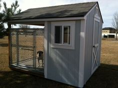 Sometimes there's not room for your dog to be in the house. New Kennel 51 Dog Kennels With Insulated Dog House Dog House With Ac, Extra Large Dog House, Build A Dog House, Dog House Plans, Large Insulated Dog House, Insulated Dog Kennels, Shed Design Plans, Diy Dog Kennel, Dog Area