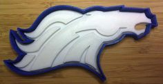 Denver Broncos Cookie Cutter - Choice of Sizes (Sports Football) - 3D Printed #Handmade3DPrint