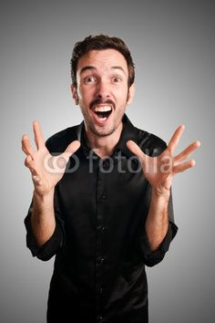 successful business man screaming $15