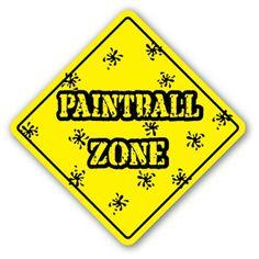 PAINTBALL ZONE -Sign- new signs gun player paint balls