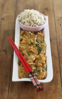 spicy peanut curry, thai, peanut butter, curry, tofu, gluten free, dairy free, egg free, vegan, vegetarian, quick, easy, recipe, spicy, harriet emily