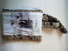 Beach Beauty W/Small Dog~ Wristlet :: Monkey Bizness Online Shop. #handmade #monkeybizness #retro #vintage #wristlet #purses  #unique #art #beauty #women #beach