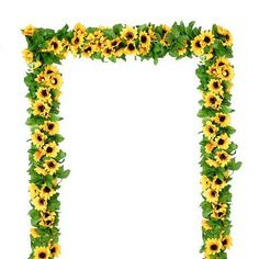 Coolmade 4 Pack Artificial Sunflower Garland Silk Sunflower Vine Artificial Flowers with Green Leaves Wedding Table Decor Sunflower Party Themes, Sunflower Birthday Parties, Sunflower Wedding Decorations, Home Wedding Decorations, Birthday Ideas, Sunflower Cupcakes, Housewarming Decorations, 13th Birthday, Sunflowers And Roses
