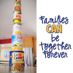 """CAN"" stacking review game. Write the names of songs on the bottoms of the cans, and let a child stack the cans as you sing the song.  When the tower is small, sing softly, as it gets taller, sing louder.  If they're going to run out of cans before the end of the song - ""accidentally"" knock it over.  ""oops!""  Start over!  Be careful with cute girls in cute sandals that expose their cute toes or - you know the rest of this story.  (Or be more prepared than me, and use EMPTY cans.)"