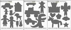 Shadow Puppet Printable Play Sets