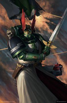 Shop for Azrael (space Marine Legends). Warhammer Dark Angels, Dark Angels 40k, Warhammer 40k Figures, Warhammer Art, Warhammer Models, Warhammer Fantasy, Warhammer 40000, Warhammer Armies, 40k Armies
