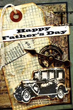 tim holtz cards | Here is the card that I made for the challenge. I had so much fun ...