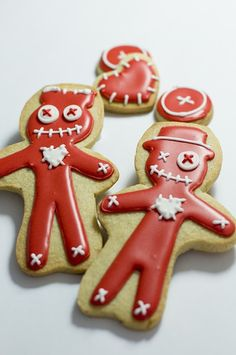 Voodoo doll cookies... I like using the hearts & button eyes for small cookies mixed in.