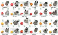 chart for Russian piping tips - Yahoo Search Results