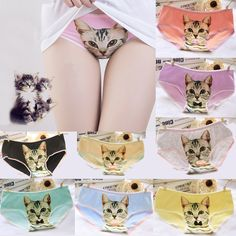 2016 Fashion Women Girl Hot Sale Women Panties Cute 3D Printed Cat Briefs Underwear for Gift Free Shipping♦️ B E S T Online Marketplace - SaleVenue ♦️ http://www.salevenue.co.uk/products/2016-fashion-women-girl-hot-sale-women-panties-cute-3d-printed-cat-briefs-underwear-for-gift-free-shipping/ US $1.35