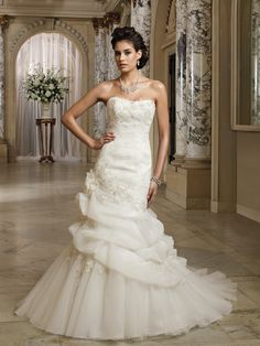 Wedding dresses and bridals gowns by David Tutera for Mon Cheri for every bride at an affordable price | Wedding Dresses|style #212256 - Lona