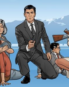 The 25 Most Stylish Men on Television Archer Tv Series, Archer Tv Show, Archer Cartoon, James Bond, Great Expectations Movie, Sterling Archer, Young & Hungry, Most Stylish Men, Ghost Adventures