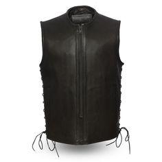 First Manufacturing Men's Venom Motorcycle Vest Motorcycle Leather Vest, Biker Vest, Men's Leather Jacket, Biker Leather, Cowhide Leather, Leather Men, Jacket Men, Thing 1, Club Style