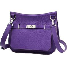 cfb6e7fbb77 Hermes Jypsiere 28 Iris Taurillon Clemence Purple Messenger Bag. Get one of  the hottest styles