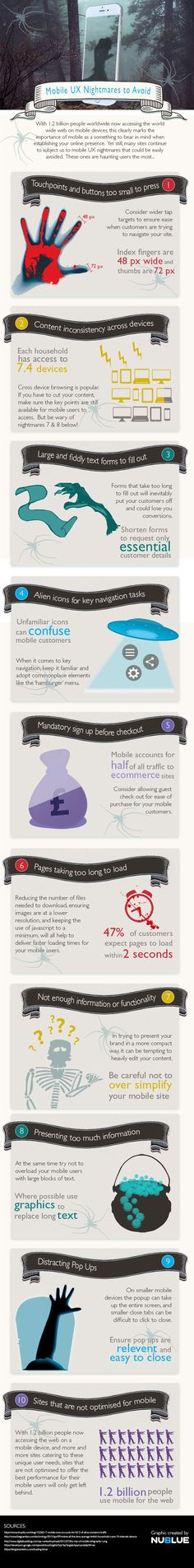 10 mobile UX nightmares to avoid | Infographic | Creative Bloq