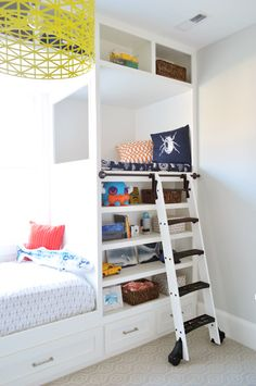 Showhouse kids bedroom built-ins. That ladder was pretty fun for grown ups too...