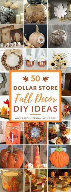 50 Dollar Store Fall Decor DIY Ideas & 12 best Holidays images on Pinterest