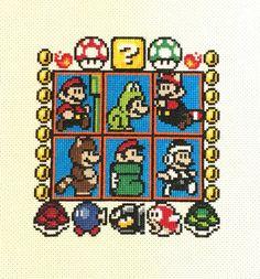 Nintendo Super Mario 3 Handmade Finished by HappyHaikuCrafts