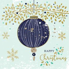 Bauble And Leaves Merry Christmas, Little Christmas, Christmas Wishes, Christmas Pictures, All Things Christmas, Vintage Christmas, Christmas Holidays, Christmas Decorations, Illustration Noel